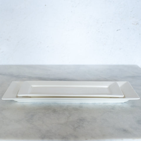 White Porcelain Rectangle Small Platers