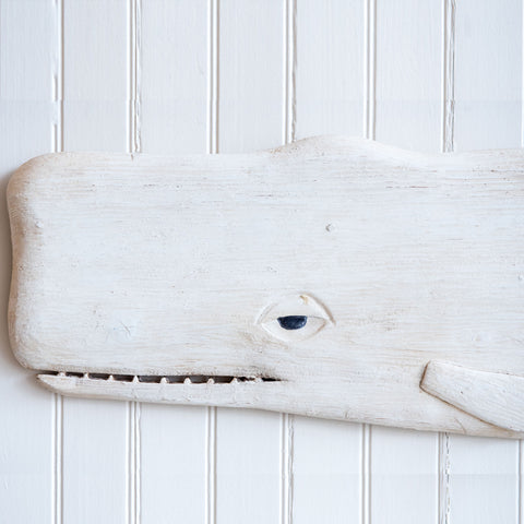 White Whale Wood Carving | Mike Bacle