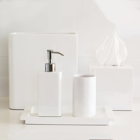 Bright White Bath Accessories