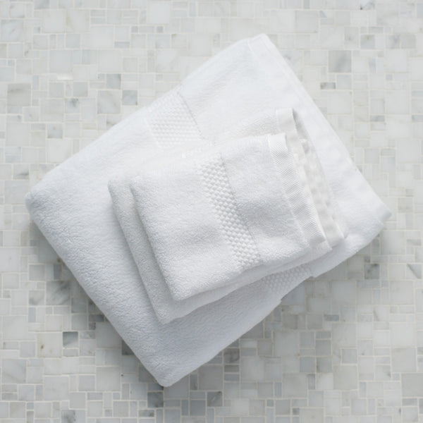 Island Spa Towel Collection- Bright White