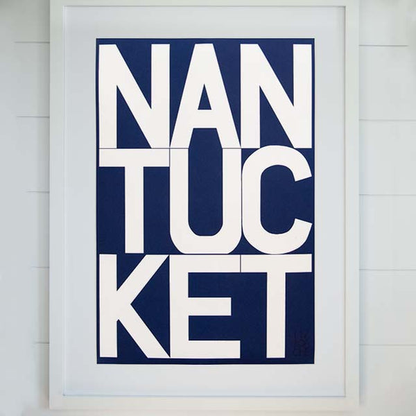 Navy Nantucket Archival Print | Liz Roache