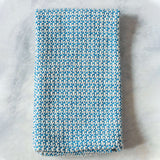 Aqua Marled Handwoven Kitchen Towel