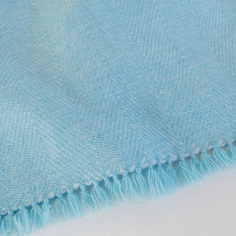 Aquamarine Handwoven Cashmere Throw