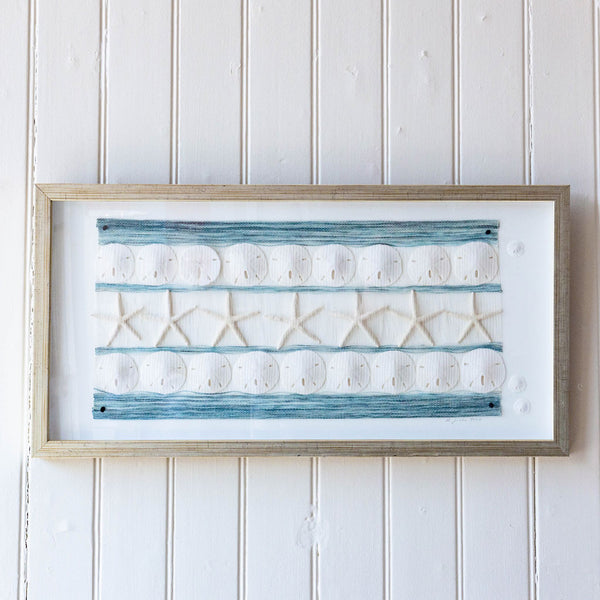 Handwoven Sand Dollar and Starfish Tapestry | Rebecca Jusko Peraner