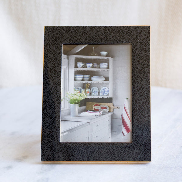 Textured Black Wooden 5x7 Picture Frame