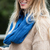 Blue Cotton Infinity Scarf