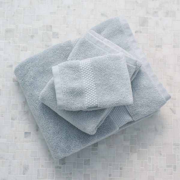 Island Spa Towel Collection- Cloudy Blue