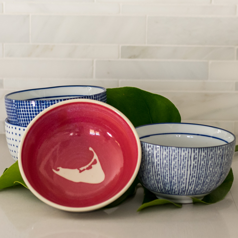 Small Nantucket Red Bowl by Emily Johnson