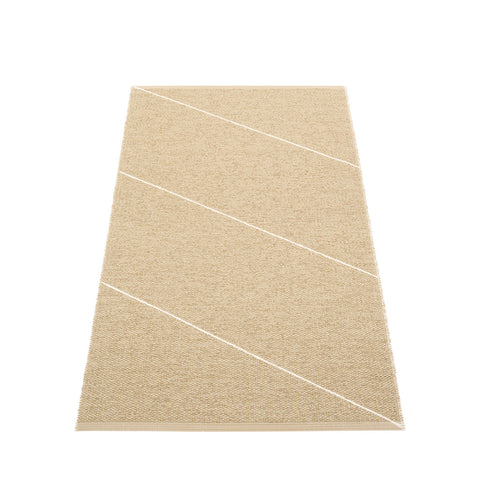 Camel and White Stripe Runner