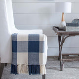 Captain's Blue Buffalo Check Alpaca Throw