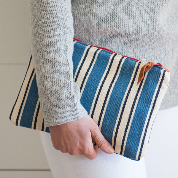 Nantucket Looms Heirloom Fabric Clutch