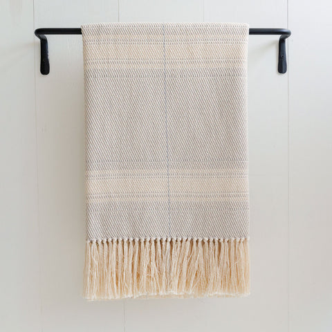 Cloudy Gray Handwoven Cotton Throw