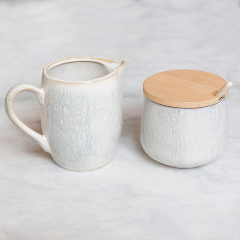 Dew Drop Ceramic Creamer & Sugar Set