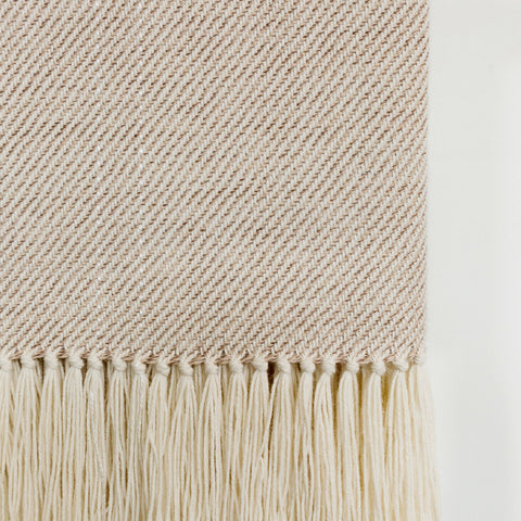 Sand Handwoven Alpaca Throw