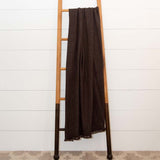Chocolate Brown Handwoven Cashmere Throw