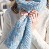 French Blue Handwoven Mohair Scarf