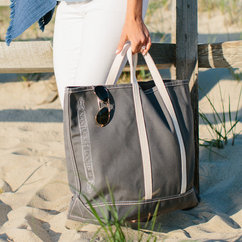 Nantucket Looms Boat Tote-Gray