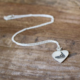 Sterling Silver Nantucket Heart Necklace