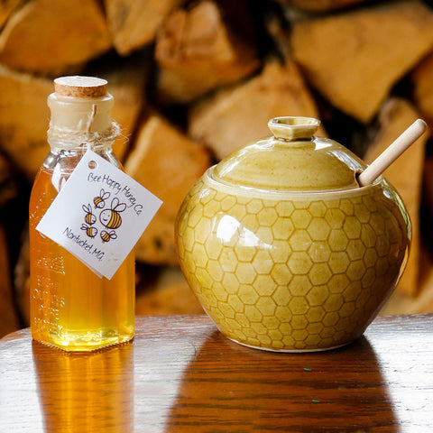 Honeycomb Honey Pot