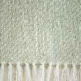 Honeydew Green Handwoven Mohair Throw