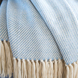 Ice Blue Alpaca Throw