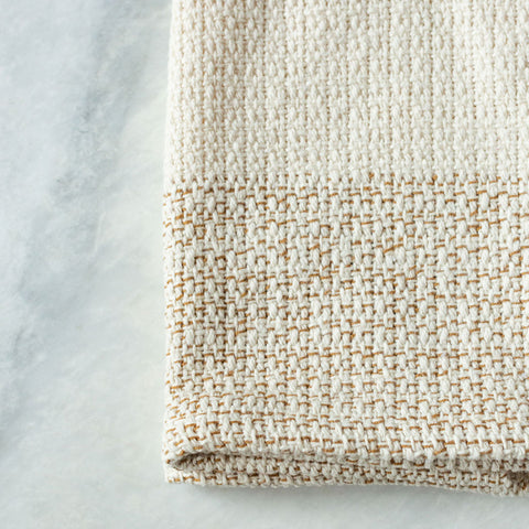 Ivory & Sand Handwoven Kitchen Towel