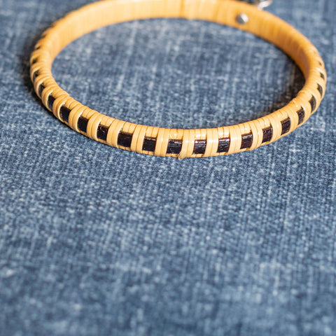 Black ACK Basket Weave Bangle