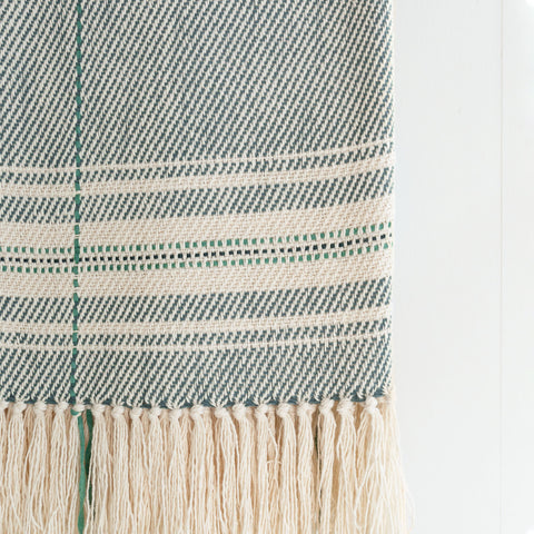 Juniper Green Handwoven Cotton Throw