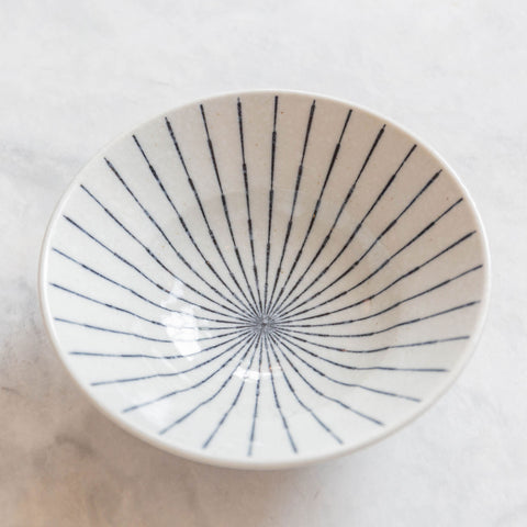 Blue and White Painted Spindle Bowl