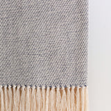 Slate Gray Marled Handwoven Cotton Throw