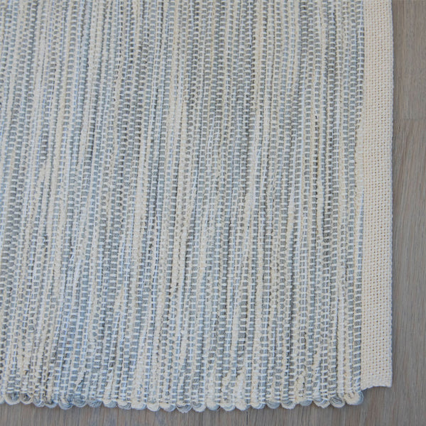 Blue Mist Cotton & Linen Handwoven Rug