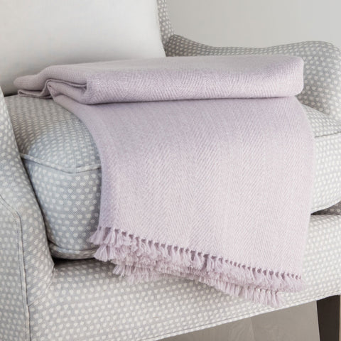Mauve Mist Handwoven Cashmere Throw