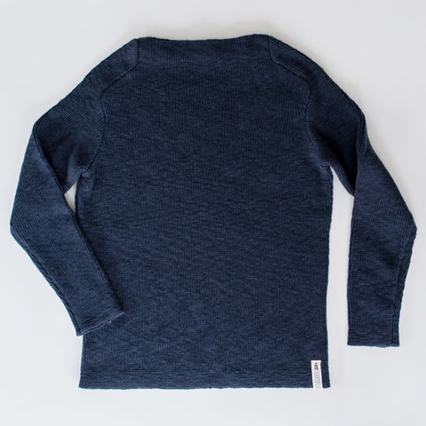 Navy Boatneck Sweater