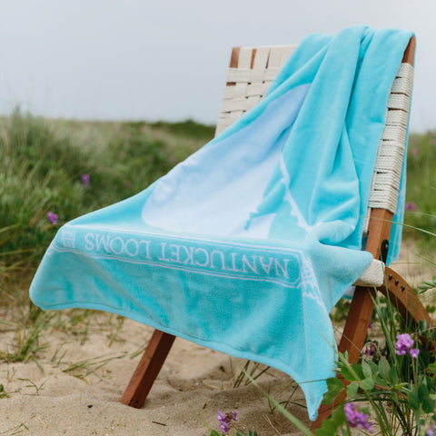 Turquoise Nantucket Looms Signature Towel