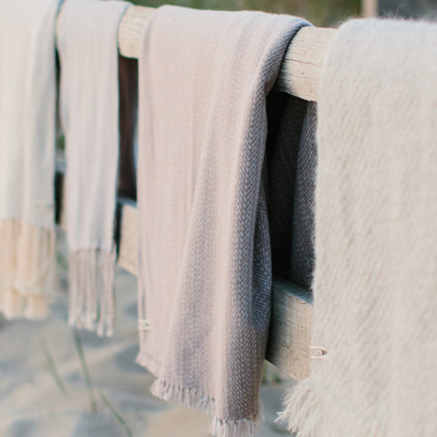 Driftwood Handwoven Cashmere Throw