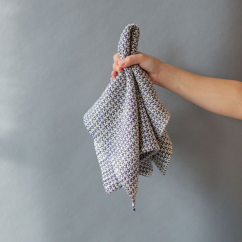 Navy Handwoven Kitchen Towel