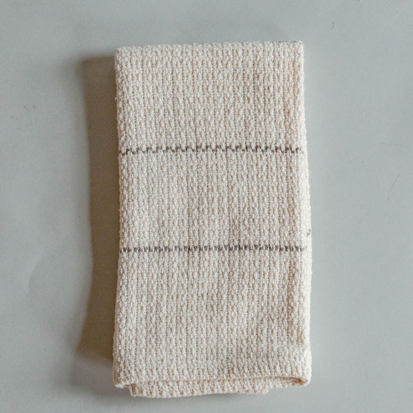 Taupe Picnic Stripe Handwoven Kitchen Towel