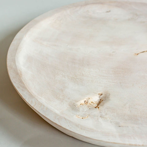 Bleached Wood Tray
