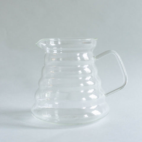 Ribbed Glass Pitcher