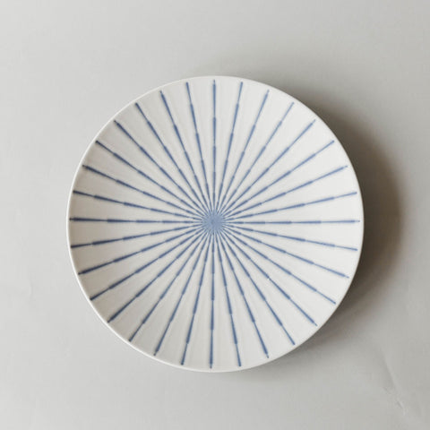 Periwinkle Blue Wisp Serving Platter