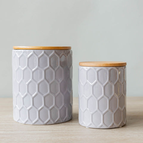 Dusty Heather Canisters