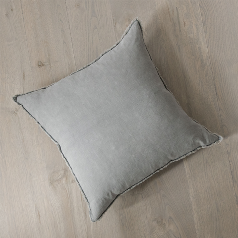 Stormy Grey Linen Pillow