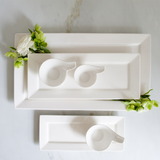White Ceramic Sauce Dishes