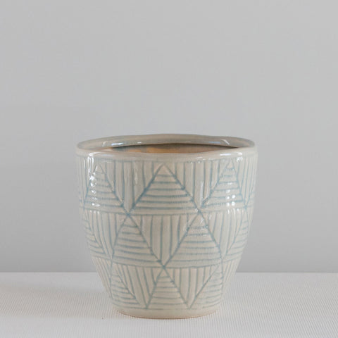 Ocean Blue Triangle Pot