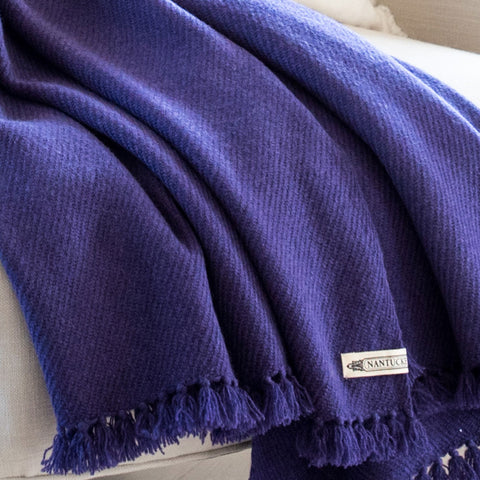 """Purple Rain"" Handwoven Cashmere Throw"