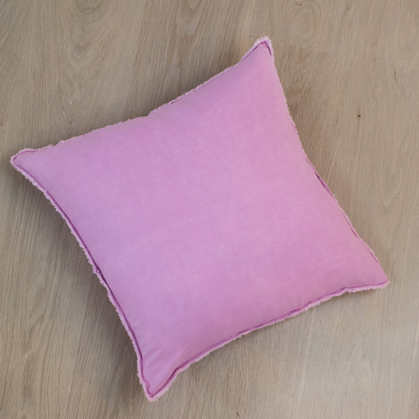 Purple Orchid Linen Pillow