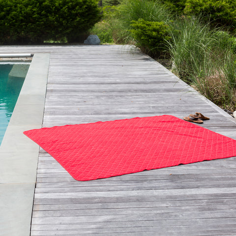 Red Canvas Beach Blanket