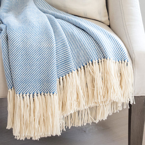 Regatta Blue Alpaca Throw