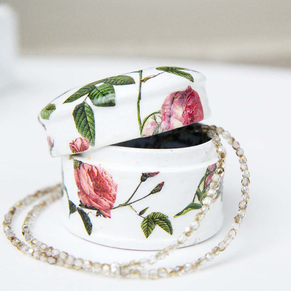 Pink Rose Trinket Box | Leslie Linsley