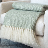 Sage Green Handwoven Mohair Throw